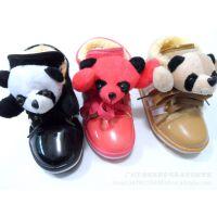 冬季爆款柔软舒适熊猫保暖童鞋加厚棉鞋魔术贴棉鞋童鞋