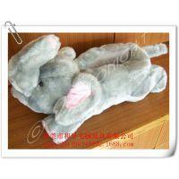 厂家定做大象毛绒拖鞋 订制毛绒保暖拖鞋 动物毛绒拖鞋