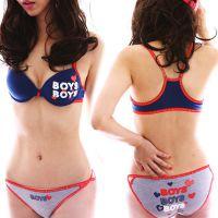 237新款韩国韩版运动工字背心棉质少女可爱内衣前扣文胸套装胸罩