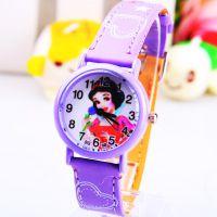 供应迪士尼白雪公主卡通儿童皮带手表 精美礼品表 厂家直供162036