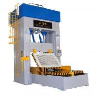 推出技术全自动智能500吨磁盘立式合模机