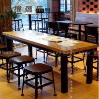 可定做实木星巴克成套餐桌椅组合餐厅桌子咖啡厅奶茶店餐桌椅批发