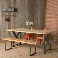 美式乡村铁艺实木复古桌椅套件 餐厅咖啡厅桌子椅117