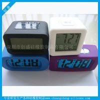 聪明钟led闹钟 四方形创意打铃闹钟 数字显示方型闹钟
