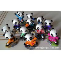 树脂可爱功夫熊猫,家居、办公、汽车饰品礼品、树脂公仔工艺品
