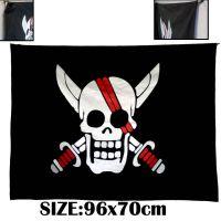 海贼王四王红发海贼团纪念版海贼旗 动漫周边旗帜 COSPLAY道具