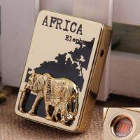 创意个性防风打火机USB充电打火机批发广告激光广告SY-605非洲象
