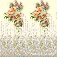 【直销】裁片印花-数码印花- 旗袍印花面料-绍兴纺织品有限公司