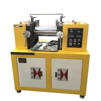 锡华厂家4寸母料色粉配色开炼机 开放式炼胶机 电加热水冷却小型硅胶炼塑机
