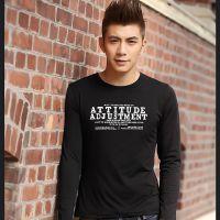 时尚男士衣服 圆领男装长袖t恤 新款韩修身男T恤打底衫促销批发