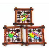 韩国民俗工艺品木质相框挂件挂饰 韩国日用品批发 装饰相框