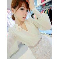 2014秋冬新款韩版女装明星款蕾丝修身连衣裙短裙
