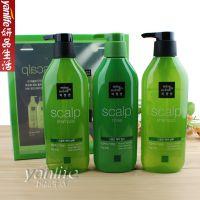 韩国爱茉莉 美妆仙绿茶控油去屑洗发水护发素3件装 绿色450ml*3