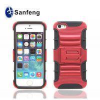 厂家直销 苹果iPhone5g硅胶+pc三合一手机壳 防震防摔手机保护套