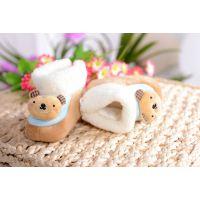 婴儿棉鞋/宝宝防滑底棉靴/卡通头像 保暖鞋子 冬款 中上-001
