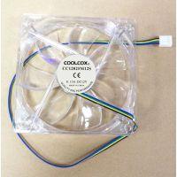 电脑风扇12025 PWM 机箱风扇静音电源风扇12cm 透明框叶LED 发光