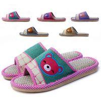 自产自销全球四季亚麻拖鞋地板拖家居男女夏季一字拖凉拖鞋
