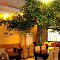 直销室外大型小区绿化植物仿真树 室内景观工程假树 玻璃钢仿真榕树工程承包