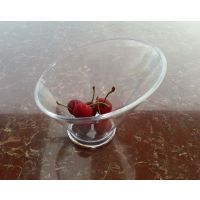 厂家直销酒店餐饮亚克力斜口 刨冰碗 水果斗 透明斜口菜碗斜口杯