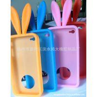 厂家大量生产手机套  保护套 硅胶手机套  iphone兔子硅胶套