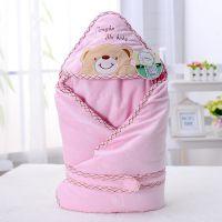 批发新生儿抱毯 水晶绒小熊款 宝宝薄款抱被 空调被 汤博士1122