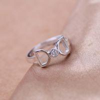 s925纯银戒指 千颂伊同款来自星星的你蝴蝶结镶钻戒指 女款单戒
