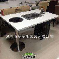 韩式烧烤火锅一体桌什么地方有得卖 大理石火锅餐桌 烤桌