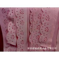 深圳宝安福永布料激光雕刻机 皮带激光镂空雕花  雕刻切割机