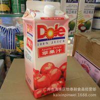 供应怡泰批发 Dole都乐苹果汁 100%果汁饮料1.8L*6盒 整箱120元