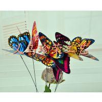 2015厂家直销双层仿真蝴蝶 彩色蝴蝶冰箱贴 迷你时尚冰箱贴批发