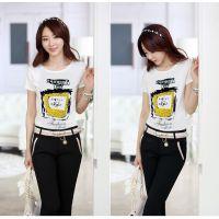厂家直销韩国时尚性感修身打底衫秋冬t恤女长袖一件代发