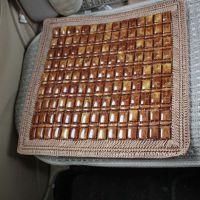 棕色花边单片座垫 夏季汽车座垫 手工编织座垫四方座垫