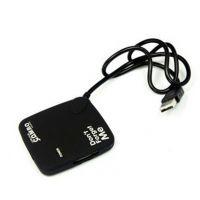 橡胶油 USB2.0HUB集线器+Card Reader读卡器Combo