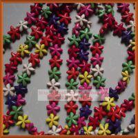 天然绿松石/23mm海星形饰品配件/彩色diy隔珠散珠子首饰材料批发