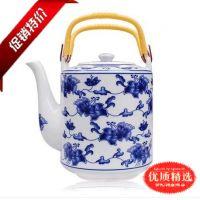 景德镇陶瓷茶壶大号容量热水壶凉水壶家用提梁壶耐高温陶瓷壶批发