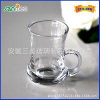三美供应 玻璃小把杯 玻璃咖啡杯 玻璃红茶杯 小葫芦玻璃把杯