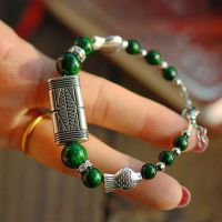 新款百搭精美特色 方鳞绿松石手链 个性气质高雅特价促销