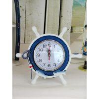 挂钟批发/客厅餐厅卧室座钟木质地中海舵形小座钟18310MZ205双鱼