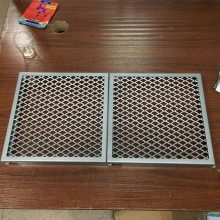 供应金属幕墙吊顶装饰氟碳方通边框菱形铝网格板幕墙生产厂家批发