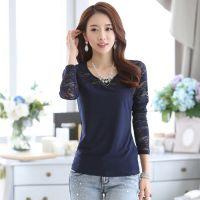 2014秋装新款韩版修身显瘦复古蕾丝上衣长袖打底衫女