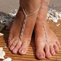 速卖通爆款 沙滩脚饰 全纯手工多粒水晶+米珠 舞蹈瑜伽配饰 脚链