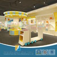 供应童装专卖店设计 儿童货架展示柜生产 品牌童装货架展柜制作厂家