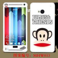 手机卡通贴膜 HTC M7皮纹贴膜 卡通保护膜 低价批发