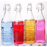批发供应各种玻璃酒瓶 花纹红酒瓶 外贸玻璃瓶烤花 玻璃油壶