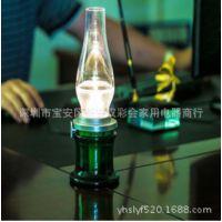新款复古油灯吹控感应煤油灯蜡烛灯吹控灯氛围灯USB充电调光台灯