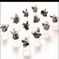 创意十二生肖兽首玻璃酒杯白酒杯套装12个洋酒杯茅台杯礼盒装