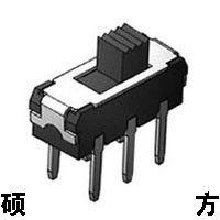 【迷你拨动开关】立式插件两档六脚微型小拨动开关MS-1250