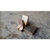 隐水式导电铜座 电镀线铜V座 翻砂紫铜V型座 紫铜三角座-黄挺五金