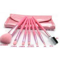 正品粉色7件套刷+送刷包化妆刷组合好携带 初学彩妆必备 一件代发