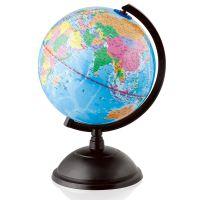 得力3033地球仪(直径20cm)地球仪 全塑证区地球仪高清 标准教学